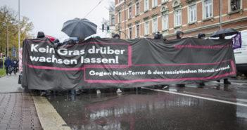 """Demonstration """"Kein Gras darüber wachsen lassen"""""""